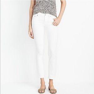 J. Crew Skinny Cropped White Jeans—27